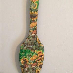 Hold Wooden Sunflower Bird Spoon Tall Price Firm